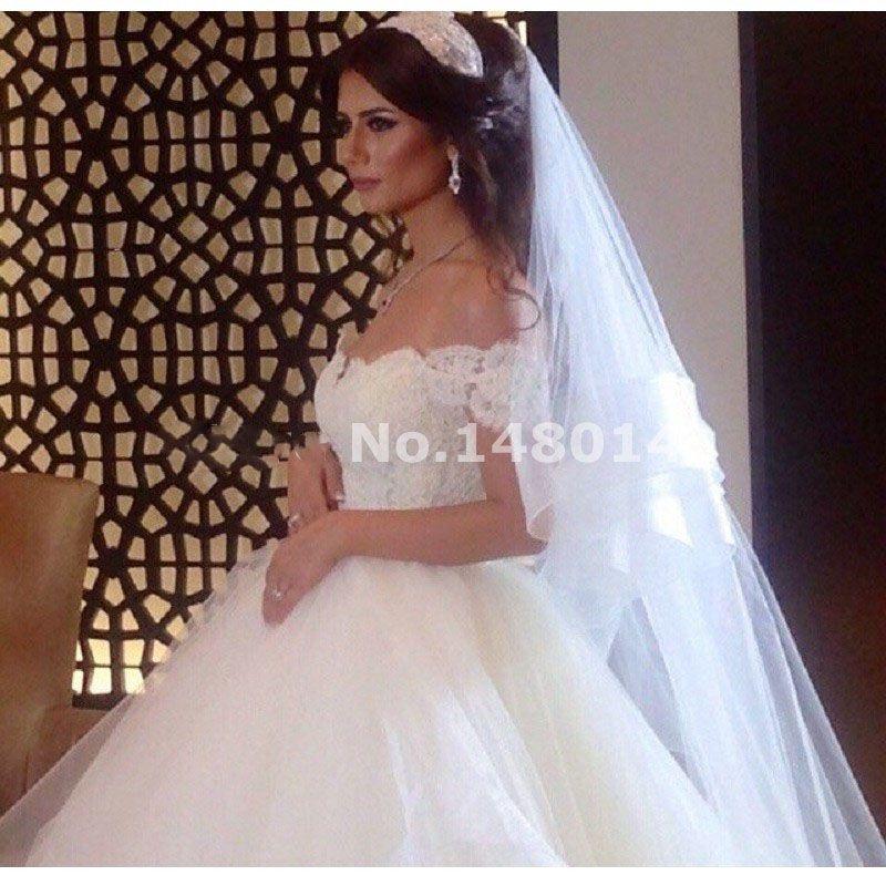 Abiti da sposa sexy al largo della spalla 2016 vintage abito da sposa abito di sfera appliques di tulle corsetto plus size abito da sposa vestidos