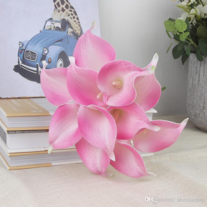 2016 nouvelle fleur artificielle réelle touche 10 couleurs Mini Calla Lily pour la décortion de fête de mariage à la maison