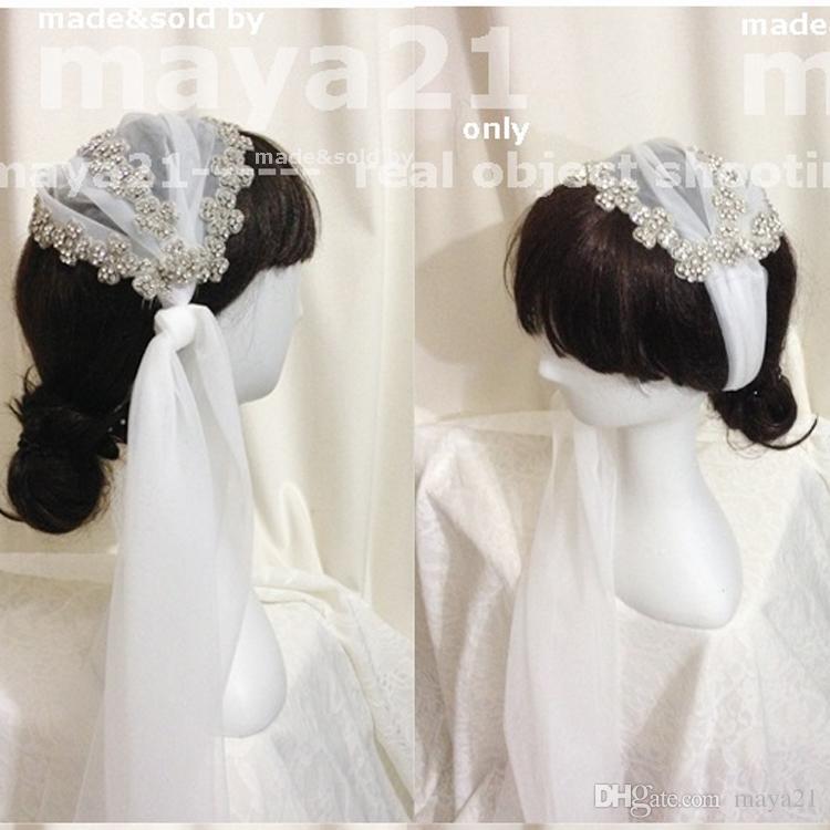 Juliet Cap Bridal Wedding Velo strass coperto legato con pettini Soft Illusion Sheer Tulle Boho velo rustico Veli da sposa da sposa
