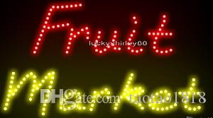 Ultra Bright LED Neon Light Animated Led Fruit Market Neon sign lights size 55*33cm indoor advertising led display