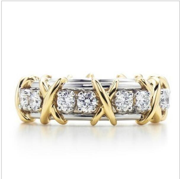 T BRAND X FORGE SONA SINTETION ABMAL CONGLONE кольцо сердца и стрелки или свадебное подлинное стерлинговое серебро платиновое покрытое кольцо для