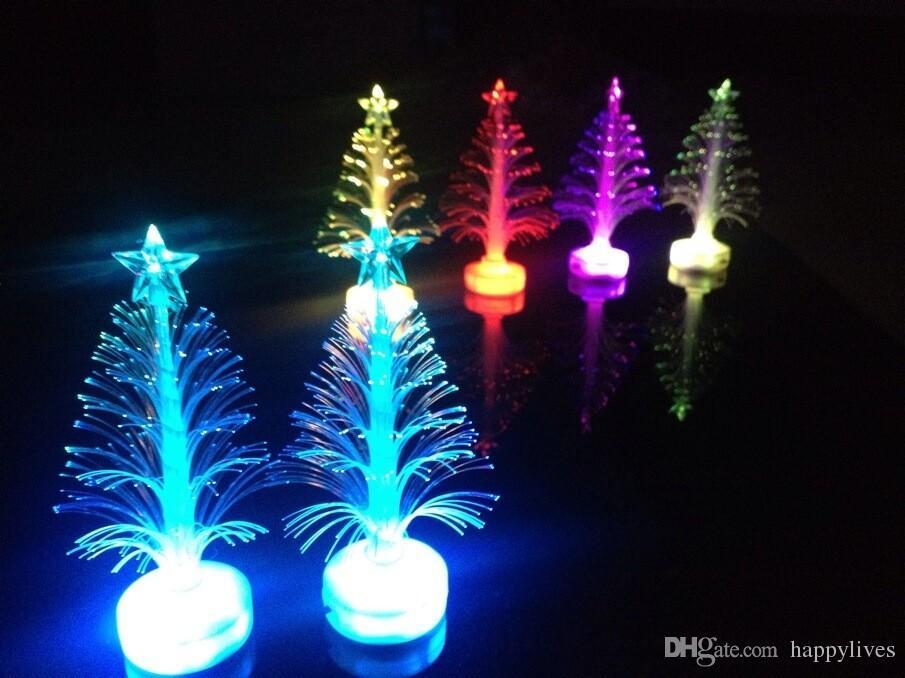 Fiber Optic Christmas Tree Christmas Xmas Tree Color Changing Led Light Lamp Home Party Decoration Christmas Toy Christmas Santa Decors Christmas
