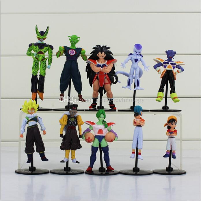 Dragon Ball Z Goku Gohan Roshi Piccolo Freeza PVC Action Figure Model Toys 10pcs/set Free Shipping