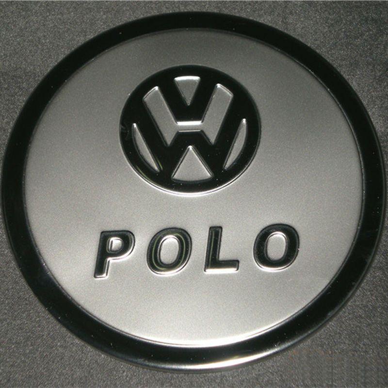 폭스 바겐 Vw를 폴로 스테인레스 스틸 연료 / 가스 / 2009- 2011 Vw를 폴로 자동차 스타일링 액세서리 오일 탱크 커버 탱크 캡 트림
