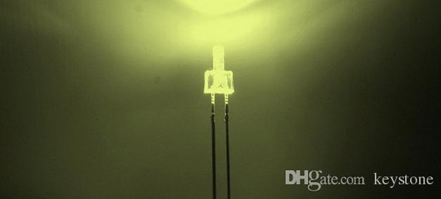 6000pcs tour forme eau claire 2mm diode LED rouge / vert / bleu / blanc / jaune / blanc chaud chaque 1000pcs