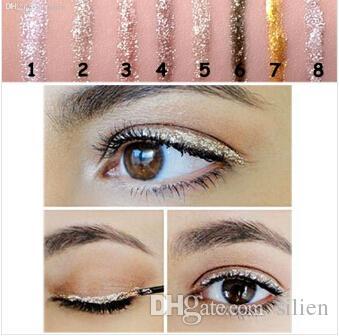 9 шт. блестящий подводка для глаз блеск красоты тени для век жидкость блестящая подводка для глаз бронзатор золото мерцание Lovest макияж maquiagem