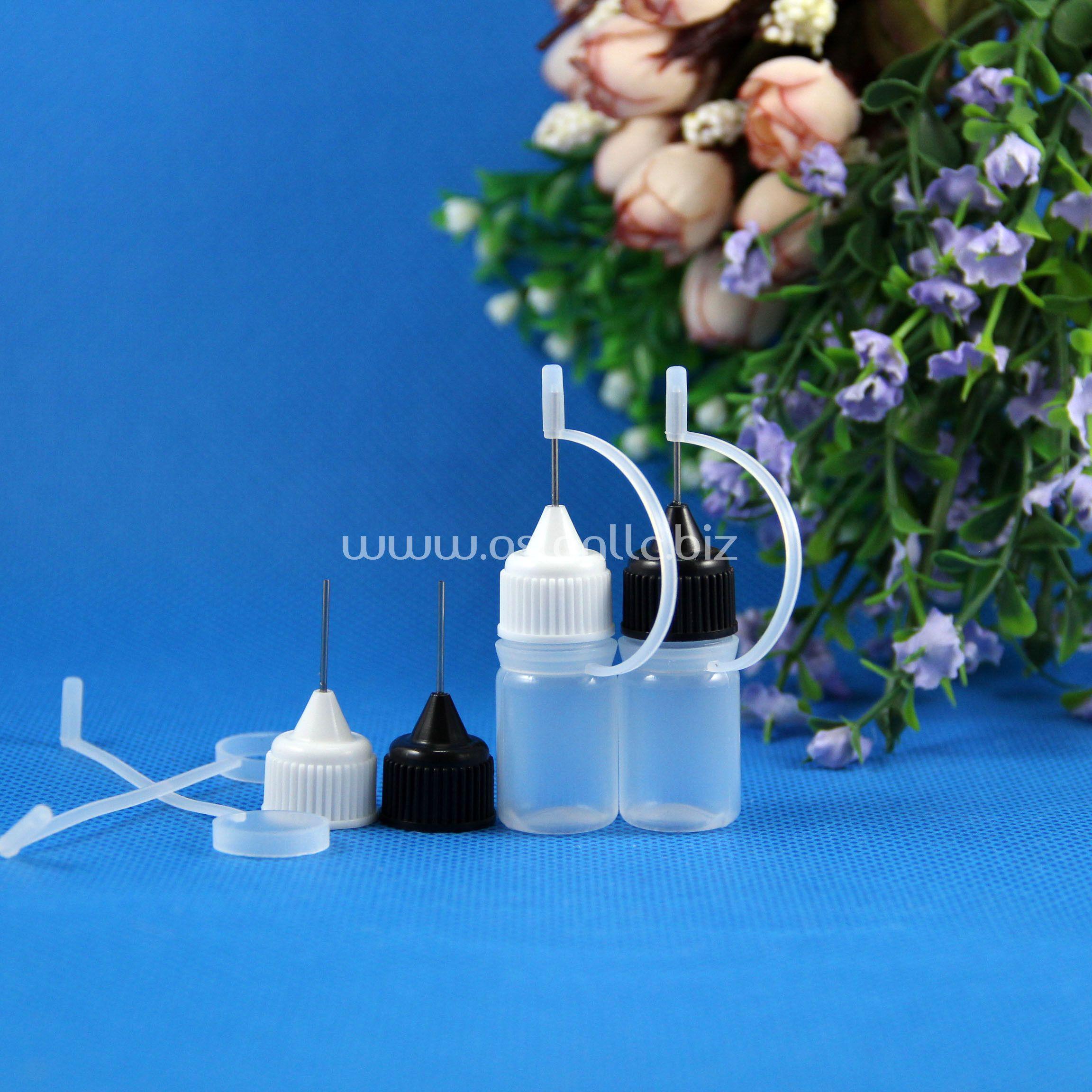 100 Conjuntos / lote 3 ml Plástico Garrafas Conta-gotas De Agulha de Vidro Derrubagem DLPE EYE DROPS E Vape Vape ÓLEO Seguro 3 ml