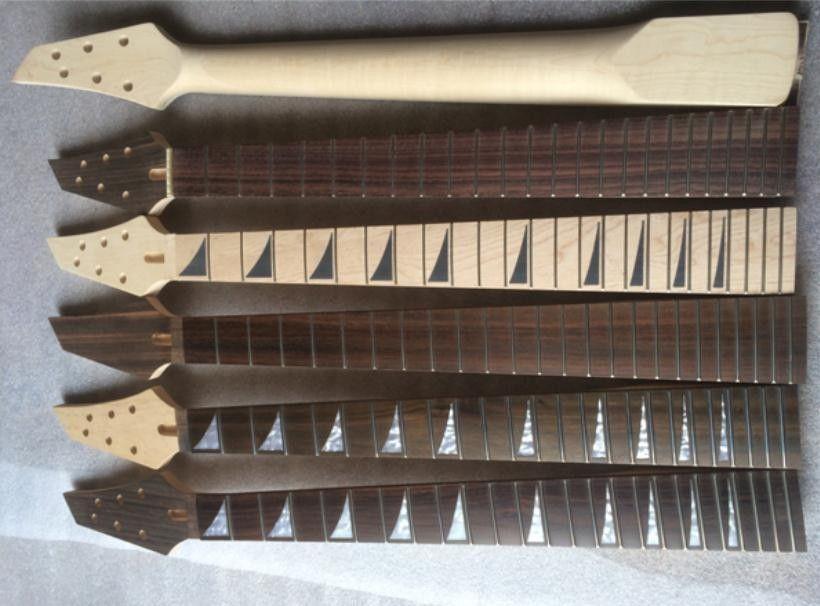 24 프렛 메이플 일렉트릭 기타 목 로즈 우드 지판 기타 부품 악기 액세서리