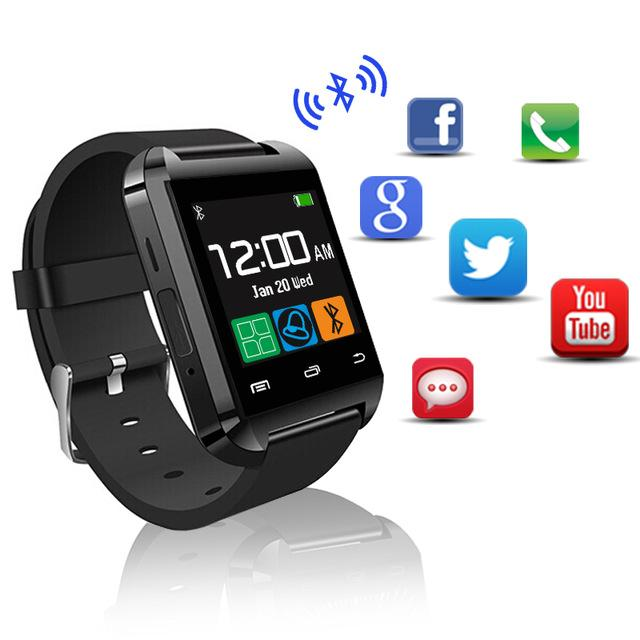 Bluetooth U8 Smartwatch da polso con altimetro per iPhone 6 Samsung S6 Nota 5 HTC telefono Android in confezione regalo