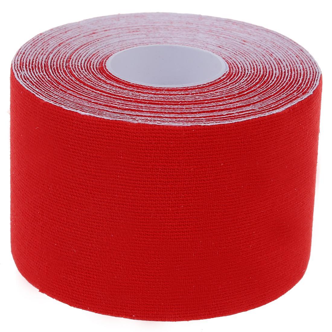 Atacado- 1 Roll Sports Kinesiology Músculos Cuidados Fitness Athletic Health Tape 5M * 5CM - Vermelho