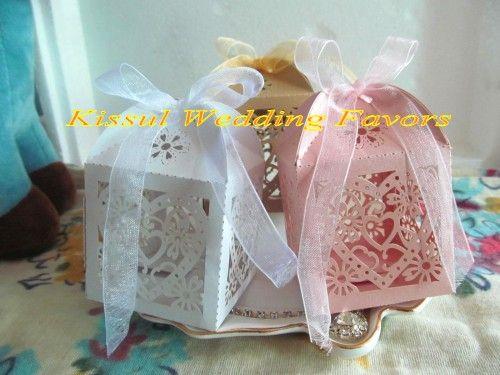 (100 шт./лот) любовь Сердце лазерная резка свадебный подарок коробки для свадьбы пользу коробки и конфеты коробки белого золота розовый для выбора бесплатная доставка