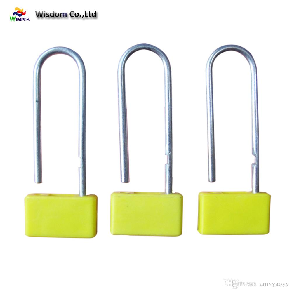 Plastic Airline Security Padlock Seal with hot stamping and laser print lock logistics transport and money bags