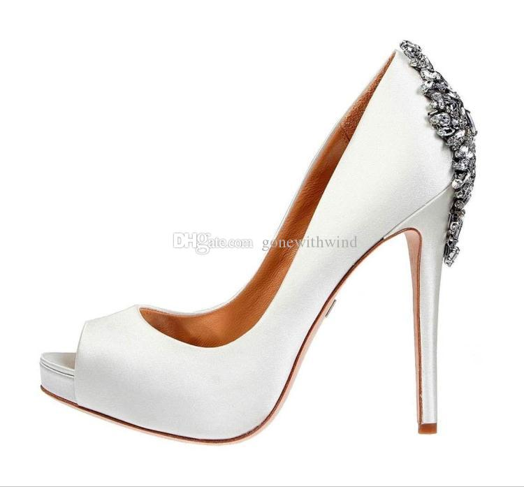 Cheap 2017 BurgundyBlueNudeGreenWhite Wedding Shoes Heels Silk