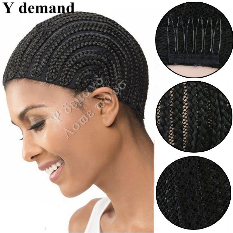 Черные крышки парика Cornrow для соткать крышки париков шнурка с S M L, крышка чистая крышка оплеток 5pcs хорошее качество y требование