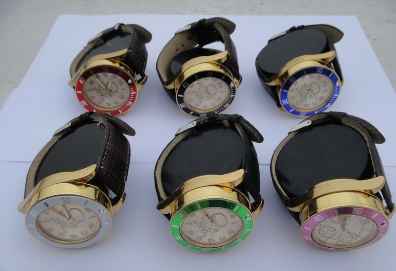 Watchgrinder dans un Portable 42mm 2 parties style de montre en alliage de zinc meuleuse pour tabac à fumer à base de plantes moudre fumeurs HX016-3 gros