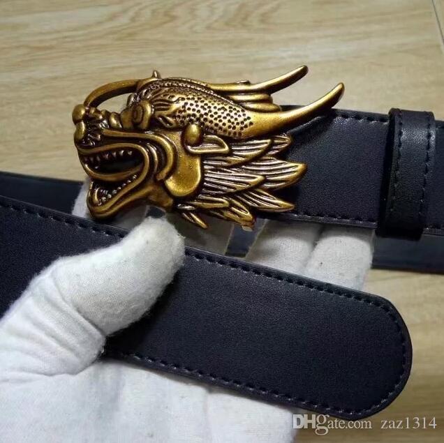 Cinture da uomo fibbia di marca nero in vera pelle cinture da uomo per uomo designer cinture di alta qualità 100 cm-125 cm all'ingrosso e al dettaglio