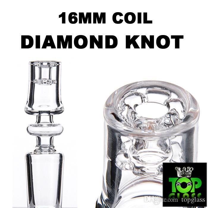 2018 newest! Electric Diamond Knot Quartz Domeless Nail With 10/14/19mm Male&Female Joint And 15.5mm Bowl Dia Enail 100% Real Quart