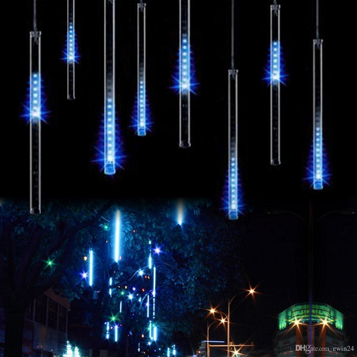 Led Christmas Lights Outdoor.30cm 144led Meteor Shower Rain Tube Led Christmas Light Wedding Party Garden Xmas String Light Outdoor Holiday Lighting Clear String Lights Cool