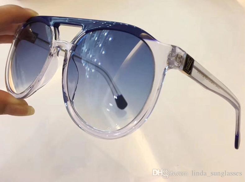 Women Stud Polit Sunglasses Gold Brown Gray 0949 Gradient Len Oversized Sunglasses Sunglasses New With Box Vindu
