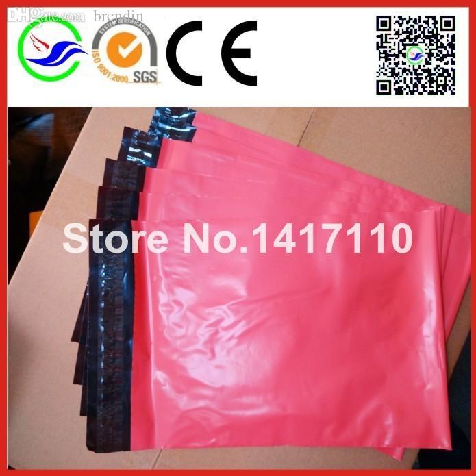 Venta al por mayor-100 PCS Newest Pink Color 10x13 pulgada Poly Mailers Shippng Bolsas de envío Posquero Sobres Pasador Correo Correo Bolsas postales