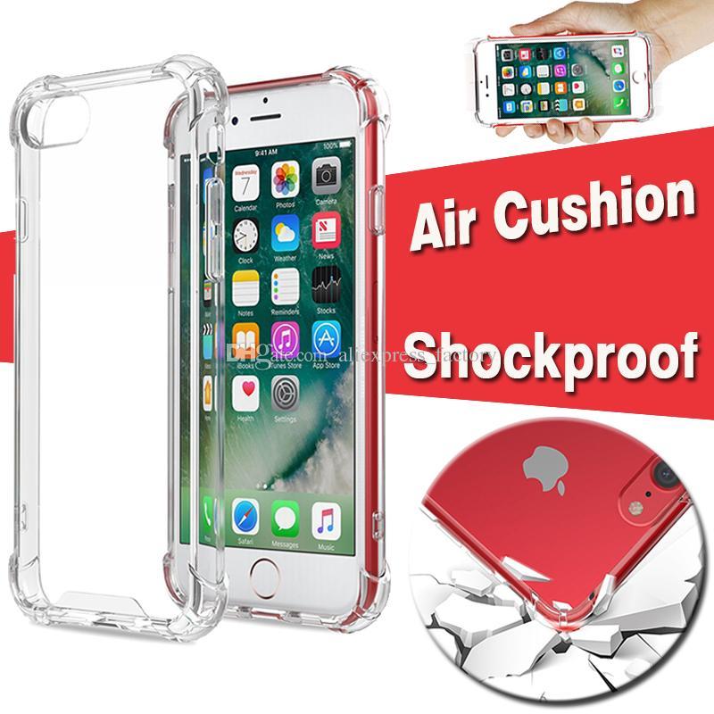 Cojín de aire Corner Clear TPU Acrílico Duro Funda protectora para iPhone XS Max XR X 8 7 6 Plus Samsung Galaxy S10 E 5G S9 S8 Nota 9 M10 M20 M30