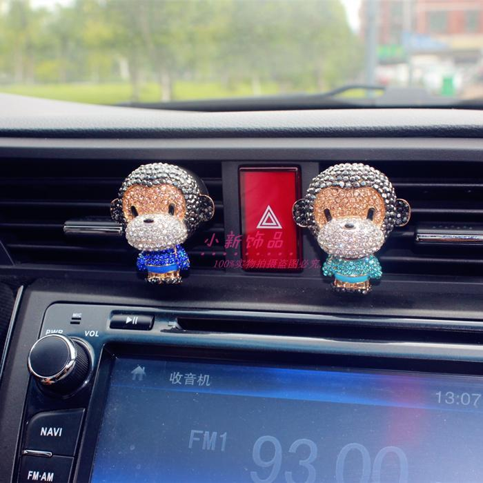 China Cute Monkey innovative car accessories, Perfume car Vent ...