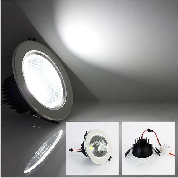 슈퍼 밝은 LED 천장 조명 AC85-265V 5W / 7W / 9W / 12W 쿨 화이트 / 따뜻한 화이트 COB LED 조명 램프 실내 조명