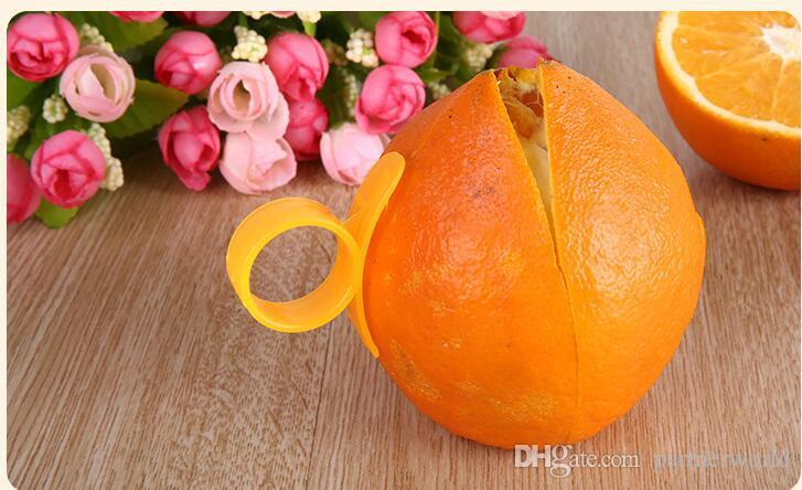 Laranja Descascadores Zesters Dispositivo samll 4.8 * 4.3 cm prático Laranja Stripper abridor de Frutas Vegetais De Cozinha ferramentas