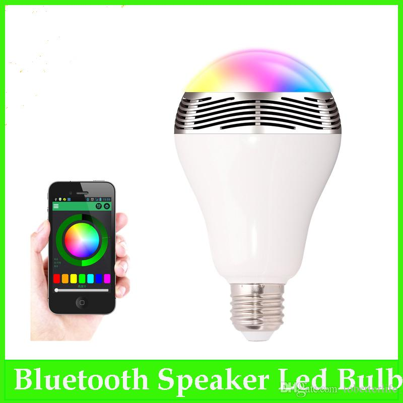 RGB bulb bluetooth Control led bulb Speaker Smart Music Audio Speaker LED RGB Color Bulb Light Lamps E27