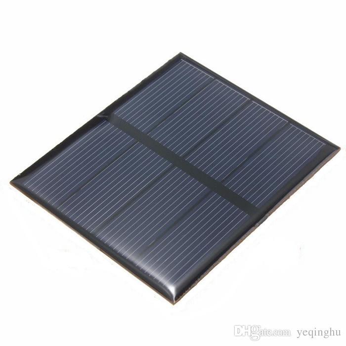 모조리! 고품질 2V 0.6W 소형 태양 전지 다결정 에폭시 태양 전지판 DIY 태양 단위 교육 장비 82 * 70mm 50PCS / Lot