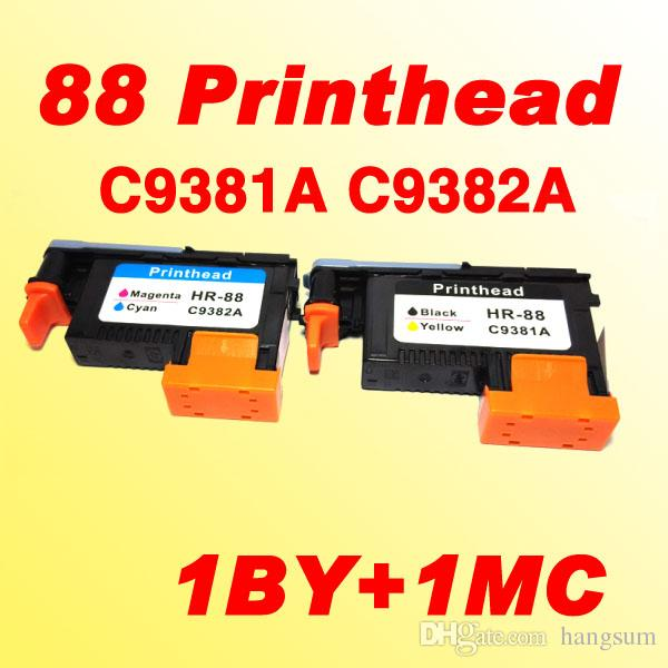 HP88 Cabezal de impresión C9381A C9382A compatible para HP 88 L7580 7590 K5400 K550 K8600 / K8600dn K550dtn / K550dtwn