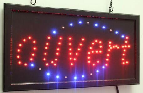 2020 hot sale manufacture open sign 10x19 Inch Semi-outdoor Ultra Bright running ouvert lighted sign wholesale