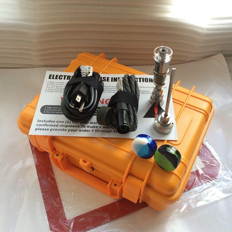 E dab NAIL Pelican E quarzo Kit chiodo cera vaporizzatore penna TI TIIDless PID dab box tappetini in silicone per bong di vetro acqua.