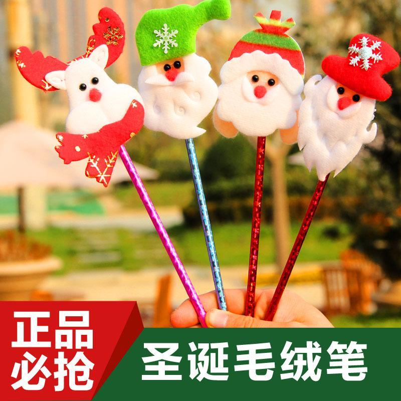 For Christmas gifts Strange new creative stationery props Santa snowman ballpoint pen
