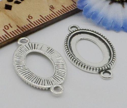 100pcs libre antiguos conectores de plata diy encantos colgante para la joyería making29x16mm