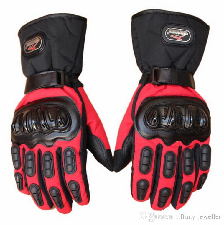 Nouveau MAD-BIKE gants de moto imperméables épais chaud hiver chaud en plein air coupe-vent moto gants noir bleu rouge taille taille M L XL XX