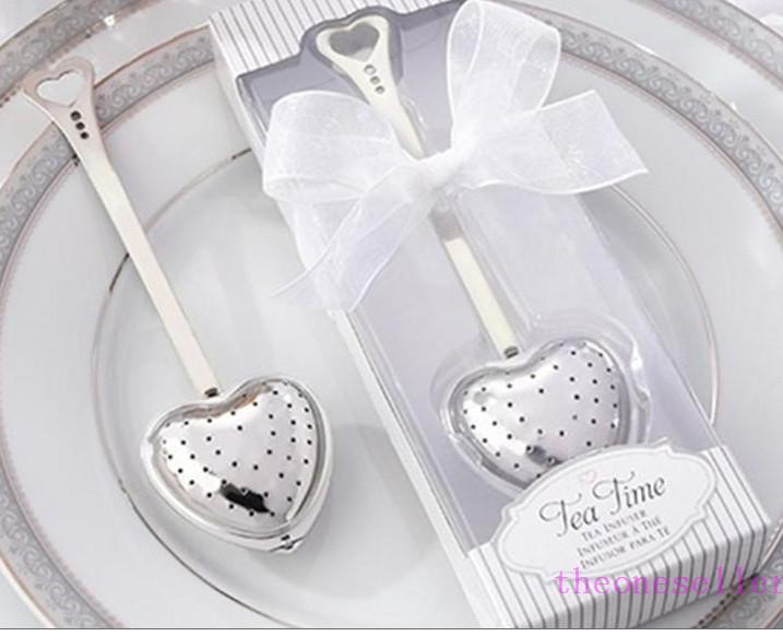 """Boîte-cadeau """"Tea Time"""" Infuseur de thé de coeur infuseur en forme de coeur Inox infuseur infuseur cuillère filtre faveurs de mariage cadeau"""