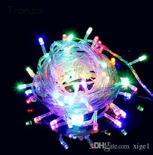 Weihnachtslicht Weihnachtsbaum Ornament Outdoor LED Wasserdichte String Fairy Light Weihnachtsdekoration Für Haus EU Stecker Neu