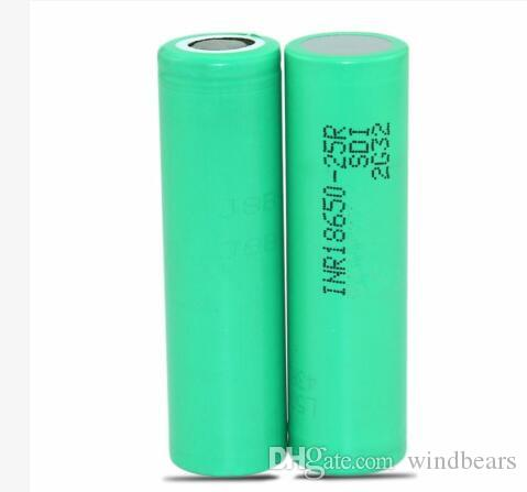 FEDEX UPS INR18650-25R High quality batteries 20A Grade High Power Li-ion Rechargeable Battery Cell For Samsung Electonic Cigarette
