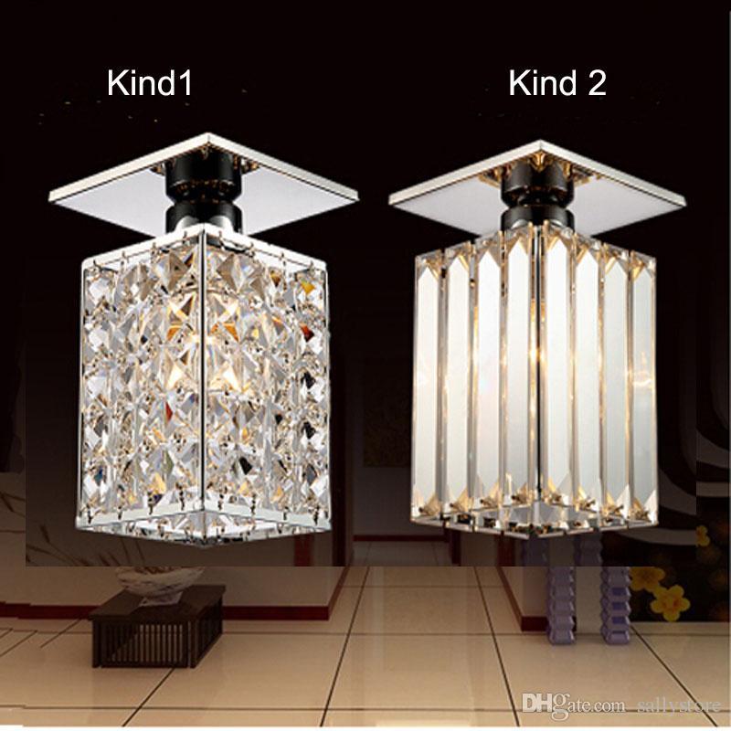 Neuankömmling ! Moderne quadratische LED-Kristalldeckenleuchte, warmes weißes / kaltes Weiß, Guaranteed100% Strom Startseite Lampen