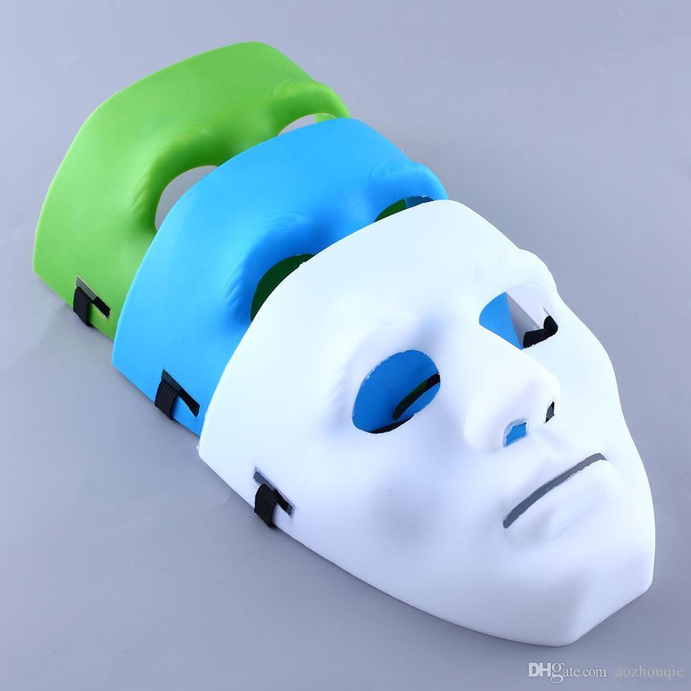 الجملة 20 قطع الأخضر الأبيض الأزرق هالوين حفلة تنكرية diy الكبار تأثيري حلي تضميد قناع شحن مجاني