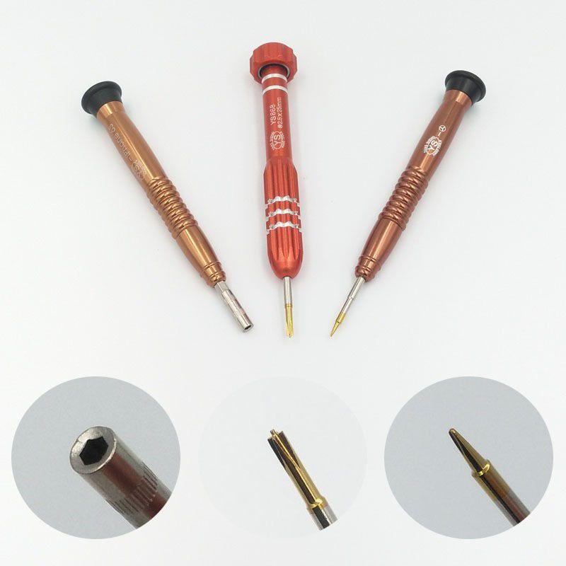 1 Satz 3 Stück Taiwan sheng Marke 2.5mm Phillips Hex, 0,6mm Y Schraubenzieher-Reparatur-Werkzeuge