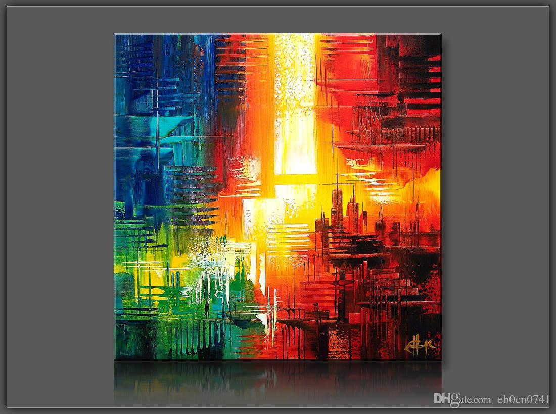 Hochwertige 100% handgemalte Single Bann Messer Malerei moderne Ölgemälde auf Leinwand Wandkunst Bilder für Hauptdekoration