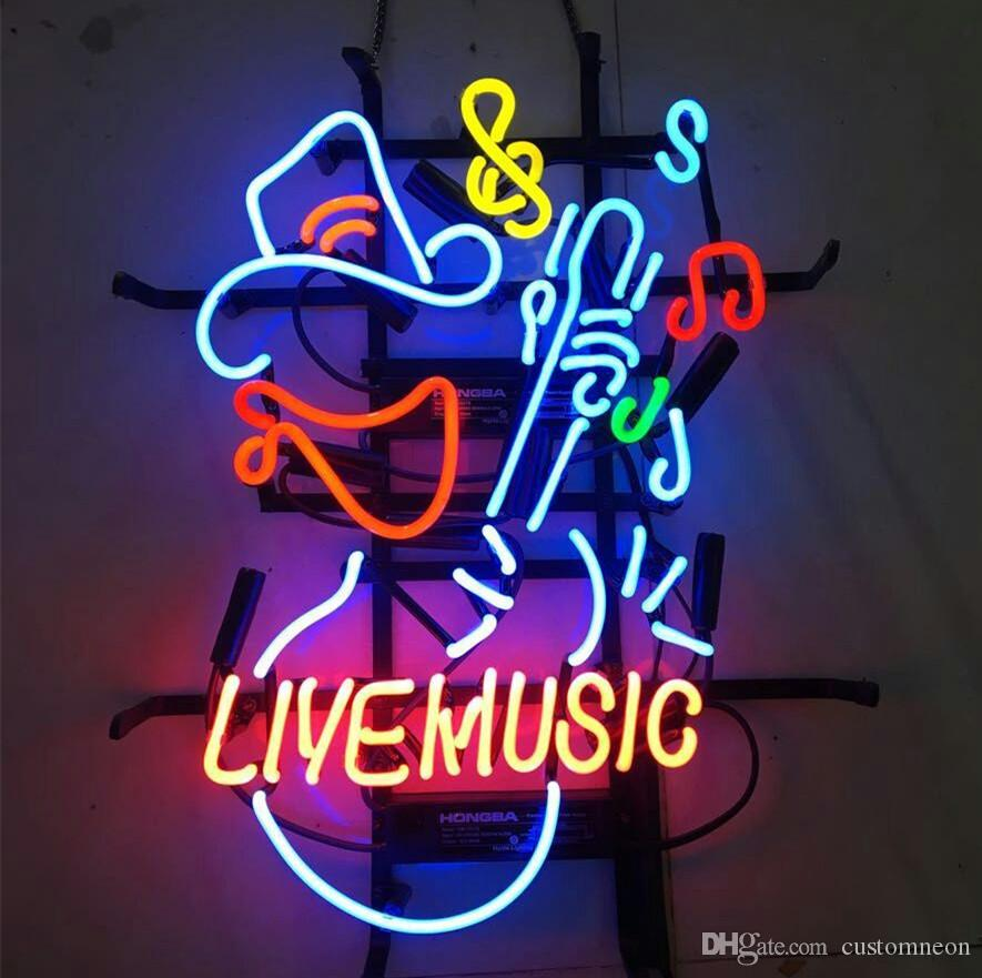 """New Fender Guitar Music Man Cave Real Glass Neon Light Sign 17/""""x14/"""""""