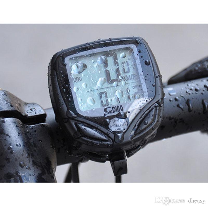 LCD Bicicleta Ordenador Ciclo Digital Inalámbrico Bicicleta Velocímetro Cuentakilómetros Cronómetro Impermeable Velocimetros Ciclismo
