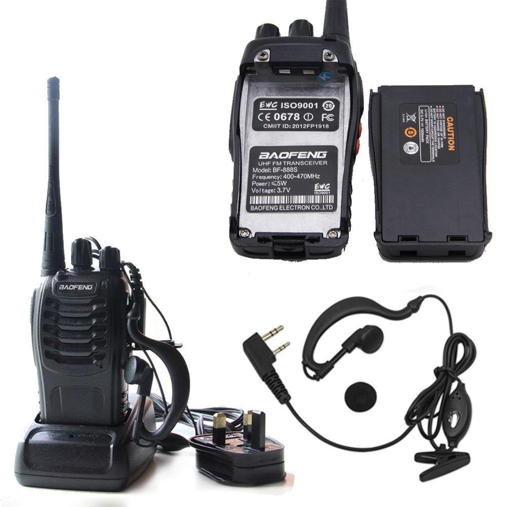 Baofeng BF-888s tattico fili portatile walkie-talkie 5W 400-470MHz radio bidirezionale Interphone portatile mobile