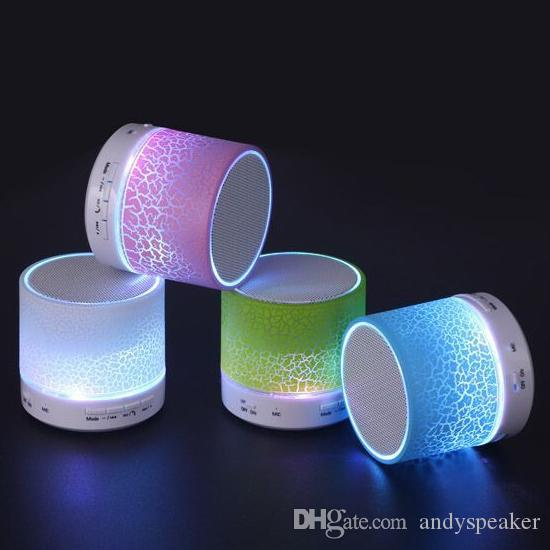 Bluetooth Speaker Wireless Speaker Bling Bling LED A9 Subwoofer Stereo Player for IOS Android Phone High Quality 50pcs/up