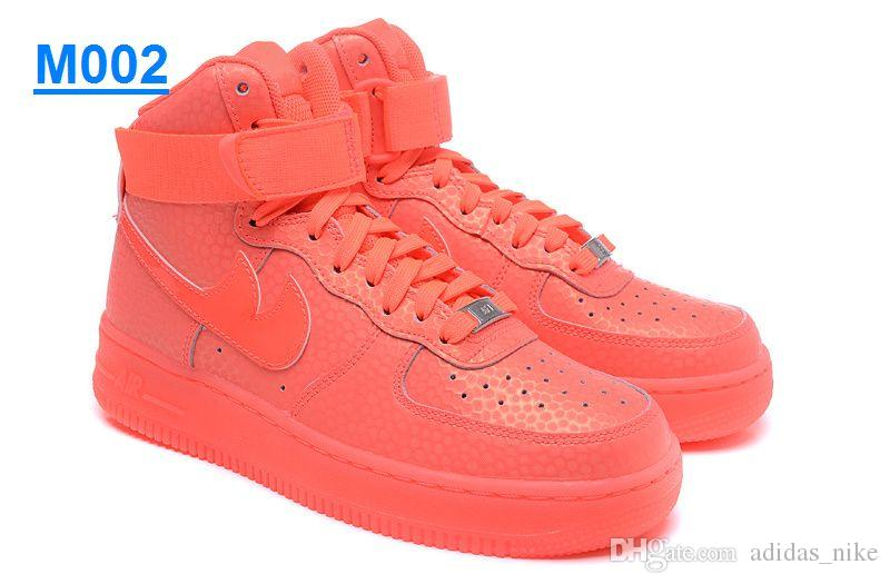2020 2016 New Air Force 1 High Supreme X Bright Fluorescent Light Leather Air Force One Running Shoes AF1 Women Men Sports Skateboarding Shoes From