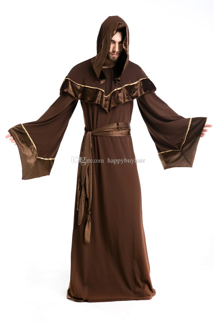 Wholesale Halloween Costumes Adult Mens Gothic Wizard Costume ...