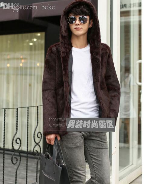 Autunno-cappuccio caldo Faux cappotto di pelliccia mens giacca di pelle uomo jaqueta de couro cappotto Villus autunno inverno tuta termica termica M- 3XL